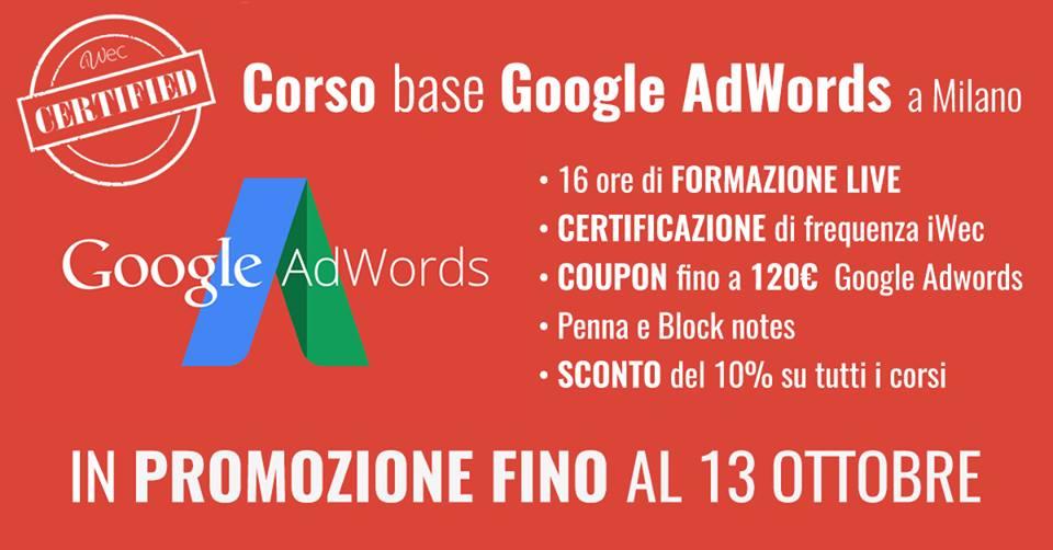 corso di google adwords a milano