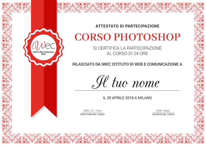 diploma corso photoshop milano